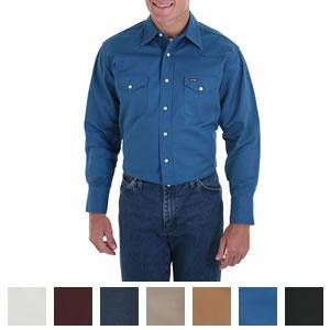 6fc268a3 Wrangler Men's Cowboy Cut Long Sleeve Twill Shirt - MS7