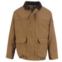 Bulwark JLB8BD Men's Excel-FR Brown Duck Lined Bomber Jacket