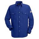 Bulwark SNS6RB Nomex IIIA 6 oz. Snap Front Deluxe Long Sleeve Shirt