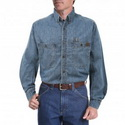 Riggs Workwear by Wrangler Men's Long Sleeve Denim Work Shirt - 3W510