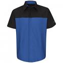 Red Kap Men's Mopar Express Lane Short Sleeve Technician Shirt - SY24ME