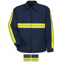 Red Kap Enhanced Visibility Perma-Lined Panel Jacket - JT50EN