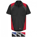 Red Kap Men's Short Sleeve Tricolor Shirt - SY28