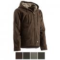 Berne Sanded Sherpa Lined Hooded Work Jacket - HJ626