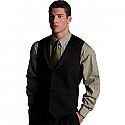 Edwards Men's Black Satin Shawl Vest - 4495