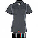 Black//Dark Charcoal Extra Large Dickies Occupational Workwear LS524BKCH XL Polyester//Cotton Mens Short Sleeve Industrial Color Block Shirt