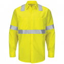 Red Kap Men's Hi-Visibility Ripstop Class 2 Level 2 Long Sleeve Work Shirt - SY14HV
