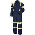 Red Kap Men's Enhanced Visibility Twill Action-Back Coverall - CT10EN