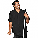Edwards Men's Black Housekeeping Service Shirt - 4276