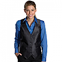 Edwards Ladies Grid Brocade Vest - 7396