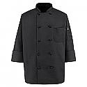 Chef Designs Ten-Button Black Chef Coat - 0427BK