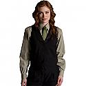 Edwards Ladies Black Satin Shawl Vest - 7495