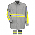 Red Kap Enhanced Visibility Industrial Long Sleeve Work Shirt - SP14