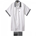 Edwards Unisex Short Sleeve Cook Shirt with Contrasting Trim - 1304