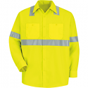 Red Kap High Visibility Class 2 Level 2 Long Sleeve Work Shirt - SS14