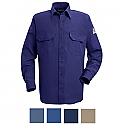 Bulwark Men's Button Front Deluxe Long Sleeve Shirt - SND2
