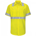 Red Kap Men's Hi-Visibility Ripstop Class 2 Level 2 Short Sleeve Work Shirt - SY24HV