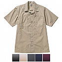 Edwards Men's Zip Front Housekeeping Short Sleeve Service Shirt - 4889
