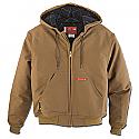 Dickies Flame Resistant UltraSoft Brown Duck Hooded Jacket - 368UT11