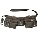Bourn Tough OT-19 11-Pocket Oil Tanned Leather Contractors Tool Pouch Belt